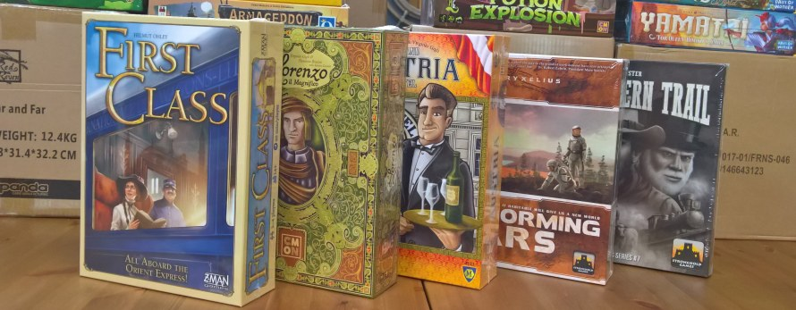 Restocks of popular titles from last year's Essen